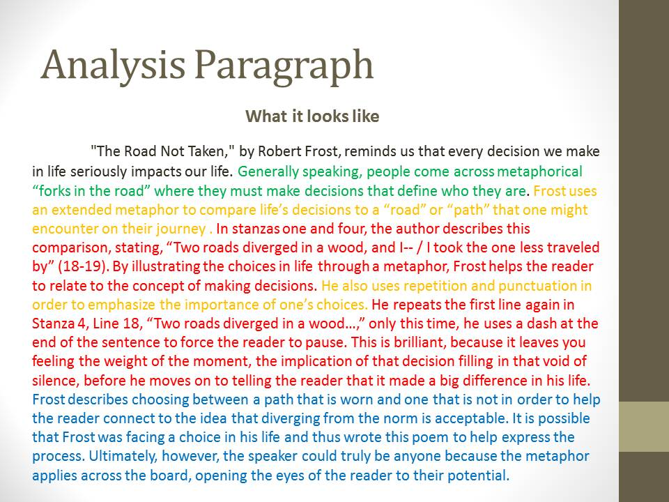 analyze poems essay Writing a thesis paper about a poem—unit 3 paper, writing 2 the meaning of the essay(s) that you are summarizing in a critique paper, your thesis is.